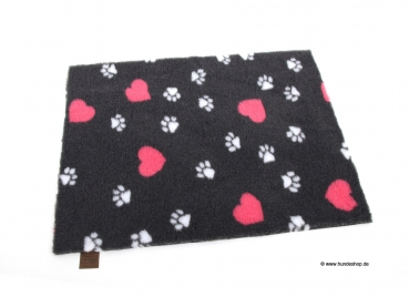 Original Vetbed™ Isobed SL -hearts & paws- anthrazit